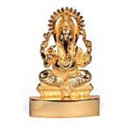 Gold Plated Ganesh ji Idol