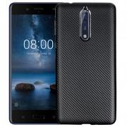 Nokia 8 Premium Carbon Fiber TPU Case - Black