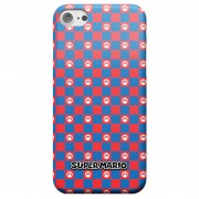 Nintendo Super Mario Checkerboard Pattern Phone Case - iPhone 8 Plus - Snap Case - Matte