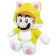 Figurina De Plus Official Sanei Super Mario Bros 3D World Cat Mario 22Cm