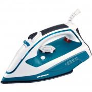 Fier de calcat Turquoise HSI-2400TQ, 2400 W, Talpa ceramica, Alb/Turquoise