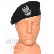 Beret wojskowy czarny z orzełkiem