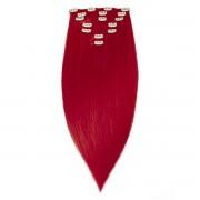Rapunzel® Hair extensions Clip-on Set Original 7 pieces 6.0 Red Fire 50 cm