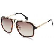 Carrera Men's CA1004S Sunglasses, Havana Gold/Brown Gradient, 57 mm