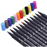 STA 48 colores de acuarela pintada arte del bosquejo cepillo suave de doble Semillas Rotuladores