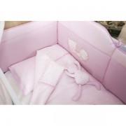 Lenjerie patut Magic Baby Teddy 6 piese roz