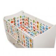 Set lenjerie de pat pentru copii bumbac 100 5 piese 2 aparatoare laterale Multicolor