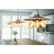 My-Furniture CHRISTOPHE Vintage Hängeleuchte in industriellem Stil mit 3 Glühbirnen