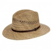 HUTTER Cappello paglia naturale traforata con cinturino e tesa larga