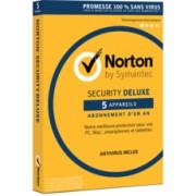 Norton™ Security Deluxe - 5 appareils - Abonnement 1 an