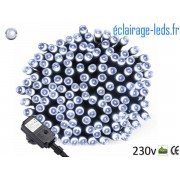 Guirlande LED 20M Blanc froid 200 led étanche IP44 230v. ref gl-12