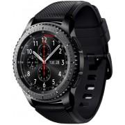"Smartwatch Samsung Gear S3 Frontier SM-R760, Procesor Dual-Core 1GHz, Super AMOLED 1.3"", 768MB RAM, 4GB Flash, Bluetooth, Wi-Fi, Rezistent la apa si praf, Tizen (Negru) + Cartela SIM Orange PrePay, 6 euro credit, 6 GB internet 4G, 2,000 minute nationale s"