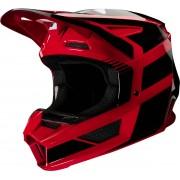 Fox V2 Hayl Youth Motocross Helmet Red S