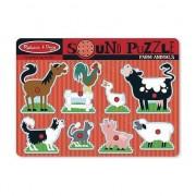 animale puzzle fermă de sunet - 10726