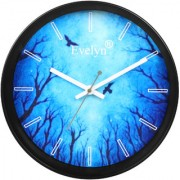 Evelyn Round Design Wall Clock for Office Bed Room Lobby Kitchen Stylish Wall Clocks Modern Wall Clock-Evc-023