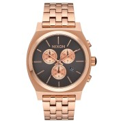 Nixon Time Teller Chrono Watch Rose Gold Gunmetal