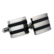 Mousie Bean Formal Cufflinks Stainless Steel Oblong 144