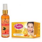 FEM DE-TAN BLEACH 30G - PR ORANGE FACE WASH