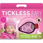 Tickless Baby Aparat Repelent Capusele si Purici cu Ultrasunet - Roz