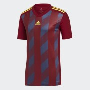Adidas Футболка Striped 19 adidas Performance Бордовый 52-54