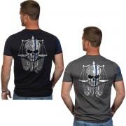Nine Line Apparel T-shirt à manches courtes Nine Line Apparel TBL Skull Gray M