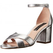 STEVEN by Steve Madden Women's Voomme Dress Sandal, Silver, 6.5 M US