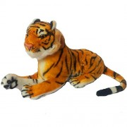 Worthyy Collections Small Forest Tiger, Plush Fabric Soft Toy, Black-White-Beige Color, Size 7 inches, (Pack of 1)
