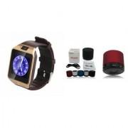 Zemini DZ09 Smartwatch and S10 Bluetooth Speaker for SAMSUNG GALAXY CORE MINI 4 G(DZ09 Smart Watch With 4G Sim Card Memory Card| S10 Bluetooth Speaker)