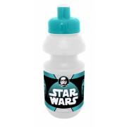 Disney bidon met bidonhouder Star Wars transparant/turquoise 330 ml
