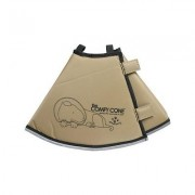 Comfy Cone Long E-Collar for Dogs & Cats, Tan, Small