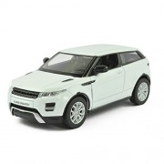 UNI-FORTUNE 5inch Range Rover Land Rover Evoque Diecast Model Car 1/36 Pull Back Toy For Kids Gift White