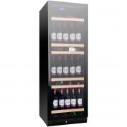 Vitrina de vinuri Nevada Concept NW158S-FG, 158 sticle, negru/inox