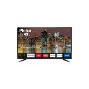 Smart TV LED 43 Philco PTV43E60SN Full HD com Conversor Digital 3 HDMI 2 USB Wi-Fi MidiaCast -