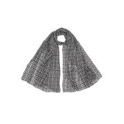 【70%OFF】シルク 総柄 スカーフ ブラック/ホワイト ファッション > ファッション小物~~スカーフ