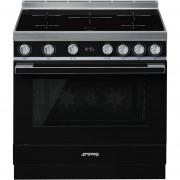 SMEG Cpf9ipbl Cucina 90x60 5 Zone A Induzione Forno Elettrico Termoventilato 115