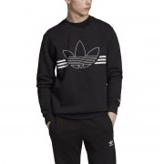 Adidas Sweatshirt Outline, runder Ausschnitt, Sweatware