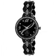 New Stylish black Ladies Watches With Bracelet Strap Analog Dial Wrist Watch (black)