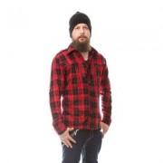 Down Town röd/svart skjorta (S)