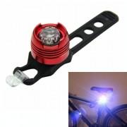 Aluminium fiets fietsen voor achterste staart helm rood wit LED flitslichten veiligheidswaarschuwing lamp fietsen voorzichtigheid licht waterdicht (wit licht rood geval)