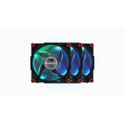 In Win Aurora RGB 120mm 3 Pack Black and Red