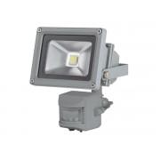 LED-Strahler mit Pir-Bewegungsmelder für den Außenbereich - 10 W Epistar Chip - 6500 K, grau