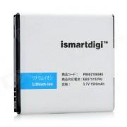 ismartdigi bateria de repuesto 3.7V 1500mah para samsung galaxy S / GT i9000 / i9003 - negro + blanco