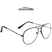 Aligator Transparent UV Protection Aviator Unisex Sunglasses