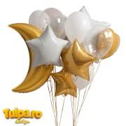 Set baloane pentru nuntă sau botez (19 piese)