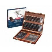 Derwent Sketching Pencils 48 in een houten kist