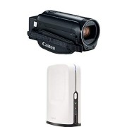 Canon VIXIA Camcorder (Black) with HD Video Switcher for Multi-Camera Production, and Live Streaming
