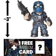 "Clayton Carmine: ~3"" Funko Mystery Minis x Gears of War Mini Vinyl Figure + 1 FREE Video Games Themed Trading Card Bundle (11356)"