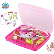 Pinnappo High Quality Bring Along Suitcase Pretend Play Role Playing Doctor Set for Kids Girls ( Toys for 3 Year Old Boy and Girl )