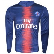 PSG polyester dri fit full sleeve football jersey(blue)