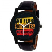 Jack klein Stylish NO Fear NO Limit No Excuses Edition Analog Watch